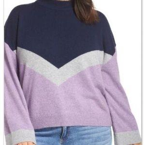 BP Chevron varsity style sweater